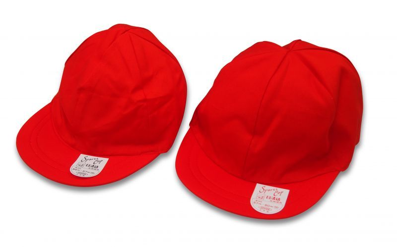 綿 ソフトつば紅白帽(10枚1組)                                    [S-12]